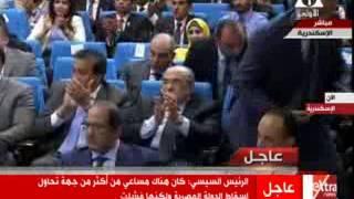 بالفيديو.. السيسي: ثورة يناير كادت تدفع الـ100 مليون مصري للاقتتال