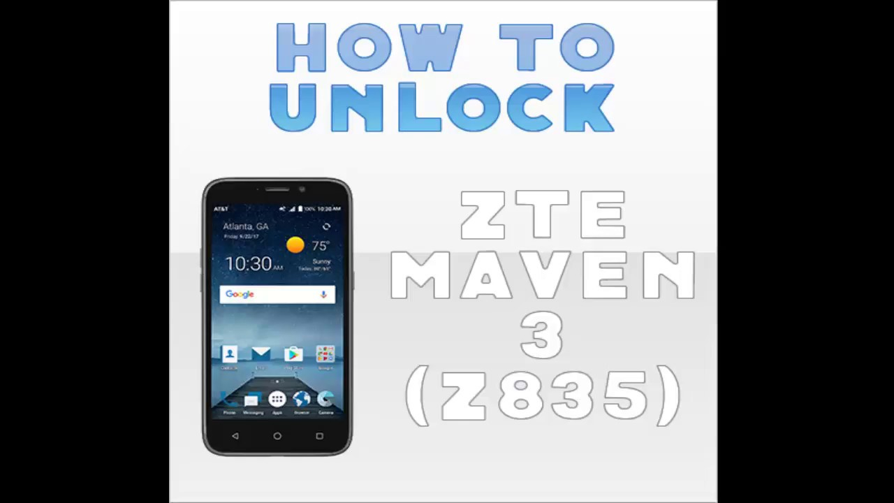 How To Unlock AT&T ZTE MAVEN 3 (Z835) BY USING IMEI TO USE ANY SIM