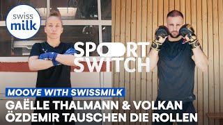Gaëlle Thalmann & Volkan Özdemir tauschen die Rollen für einen Tag | Sportswitch | Swissmilk (2021)