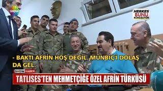 Tatlıses'ten Mehmetçiğe özel Afrin türküsü