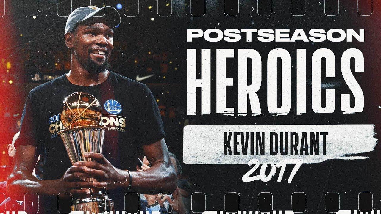 Kevin Durant's BEST Moments From His 2017 Postseason Run! | #PostseasonHeroics