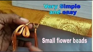 Saree tassels -Small flower beads design with tips