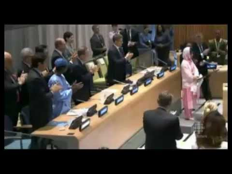 One little girl told the UN one book, one pen, one idea, can change the world