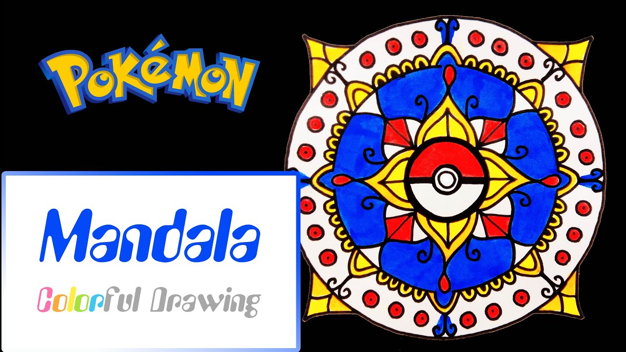Speed Drawing Coloring Dessiner Un Mandala Pokemon N 6 Youtube