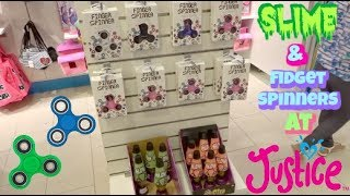 SLiME AND FIDGET SPINNERS AT JUSTICE! | SHOPPING MALL VLOG