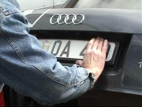 Fitting Euro Number Plate To Audi Using LAKIN Custom Plate Bracket - Audi car number