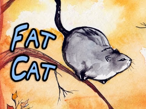 FAT CAT ATTACK! – time lapse painting.