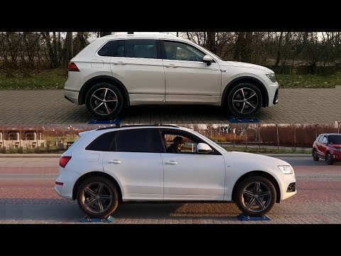 Haldex vs Torsen - 4Motion vs Quattro - VW Tiguan vs Audi Q5 - test on rollers