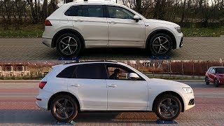 Torsen vs Haldex - Quattro vs 4MOTION - Audi Q5 vs VW Tiguan - test on rollers