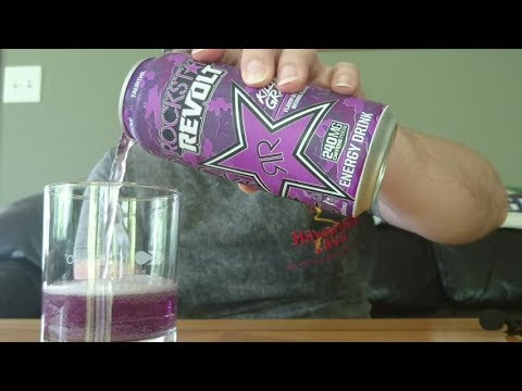 Rockstar Revolt Killer Grape Energy Drink Review