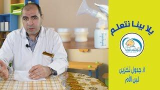 جدول تخزين #لبن الأم مع د يوسف قضا   Breast milk storage guidelines