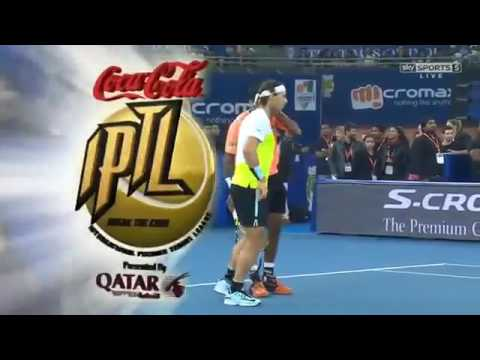 Bopanna & Nadal vs Cilic & Federer FULL MATCH IPTL New Delhi 2015 HD