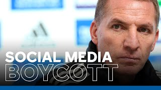 'We Cannot Stand For It' - Brendan Rodgers   Football Unites To #StopOnlineAbuse