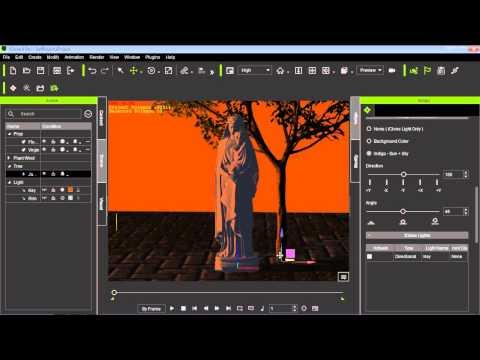iClone 6 Tutorial - Types of Lighting in Indigo