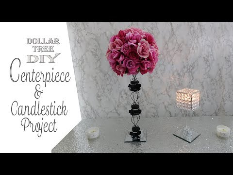 dollar-tree-diy-/-centerpiece-&-gem-candleholder-/-paris-theme-diy