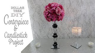 Dollar Tree DIY / Centerpiece & Gem Candleholder / Paris Theme DIY