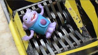 shredding some toys #1 - Slime kids toys - Crushing toys for kids - Shredder experiment