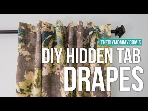 DIY HIDDEN TAB DRAPES   2017 Spring One Room Challenge Week 3