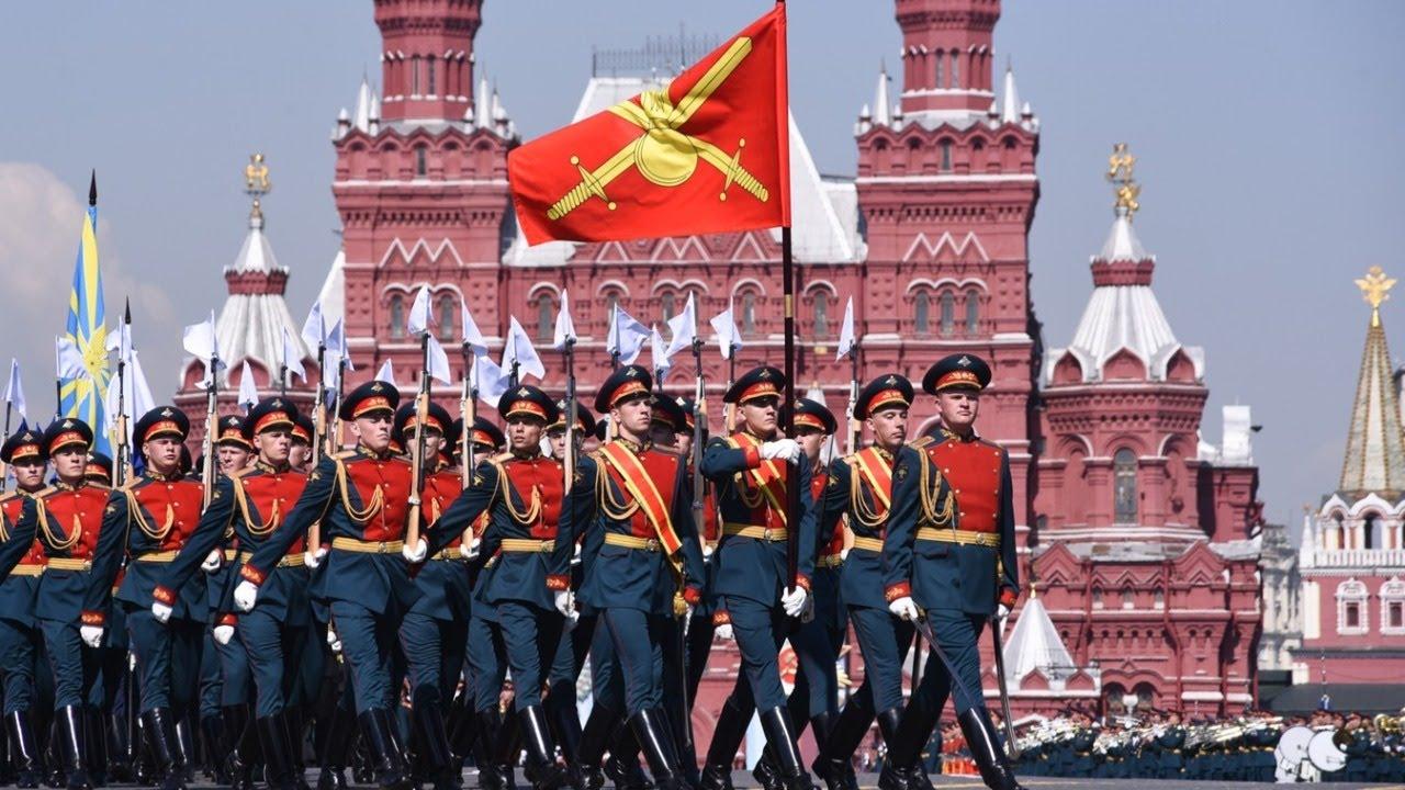 Парад Победы 2020 на Красной Площади. Москва 24 июня 2020 года.