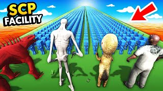 1,000,000 BLUE SOLDIERS vs EVERY SCP IN THE WORLD (Ancient Warfare 3 Funny Gameplay)