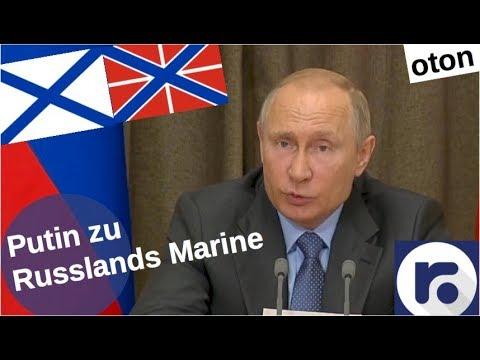 Putin zu Russlands Marine auf deutsch