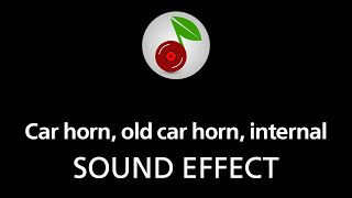 Car horn, old car horn, internal, sound effect