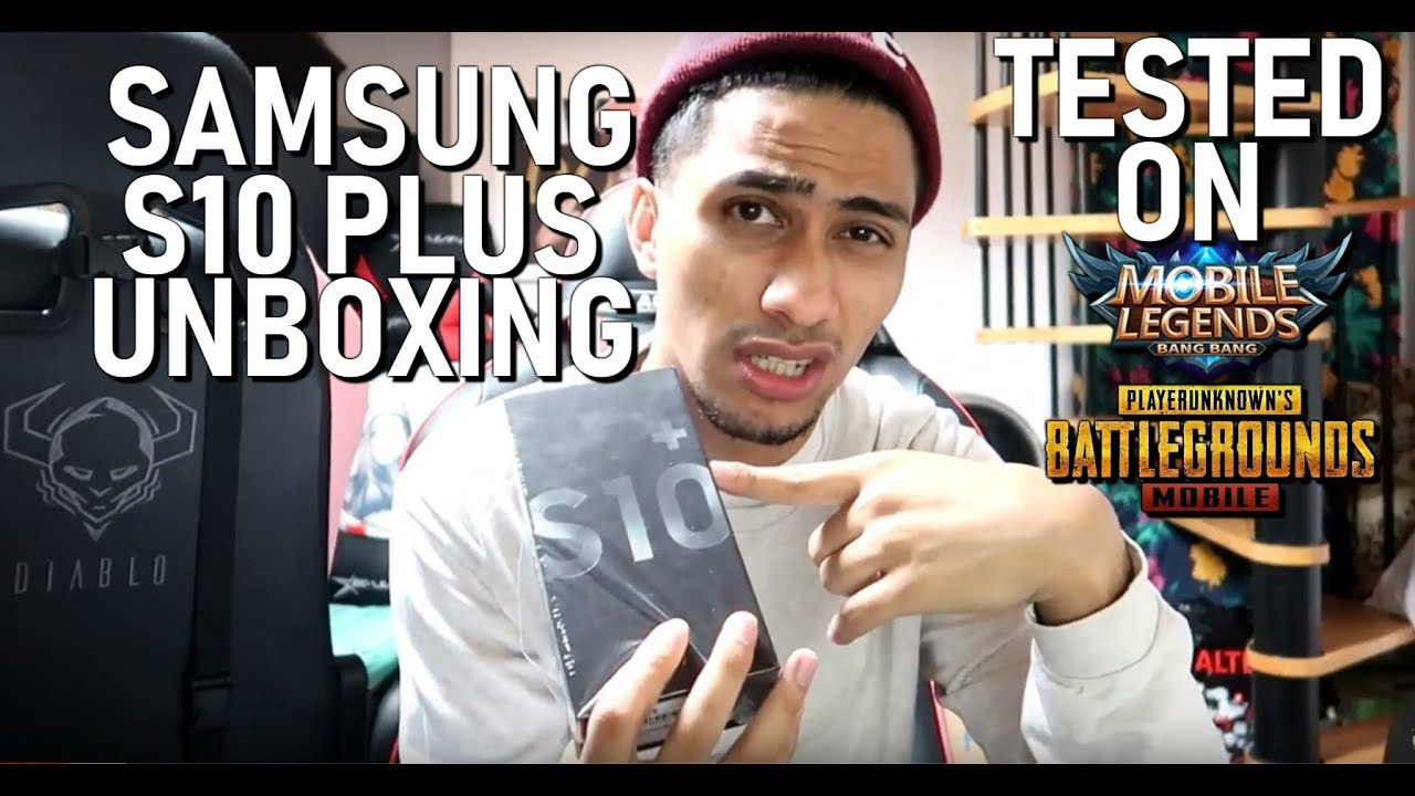 SAMSUNG GALAXY S10 PLUS UNBOXING - MOBILE GAMES TEST - MOBILE LEGENDS - PUBG MOBILE