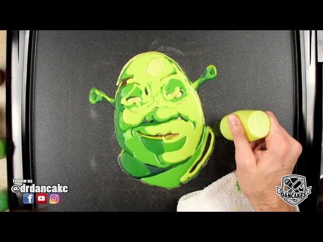 Shrek Pancake Art (SHREK IS PANCAKE, SHREK IS LIFE)