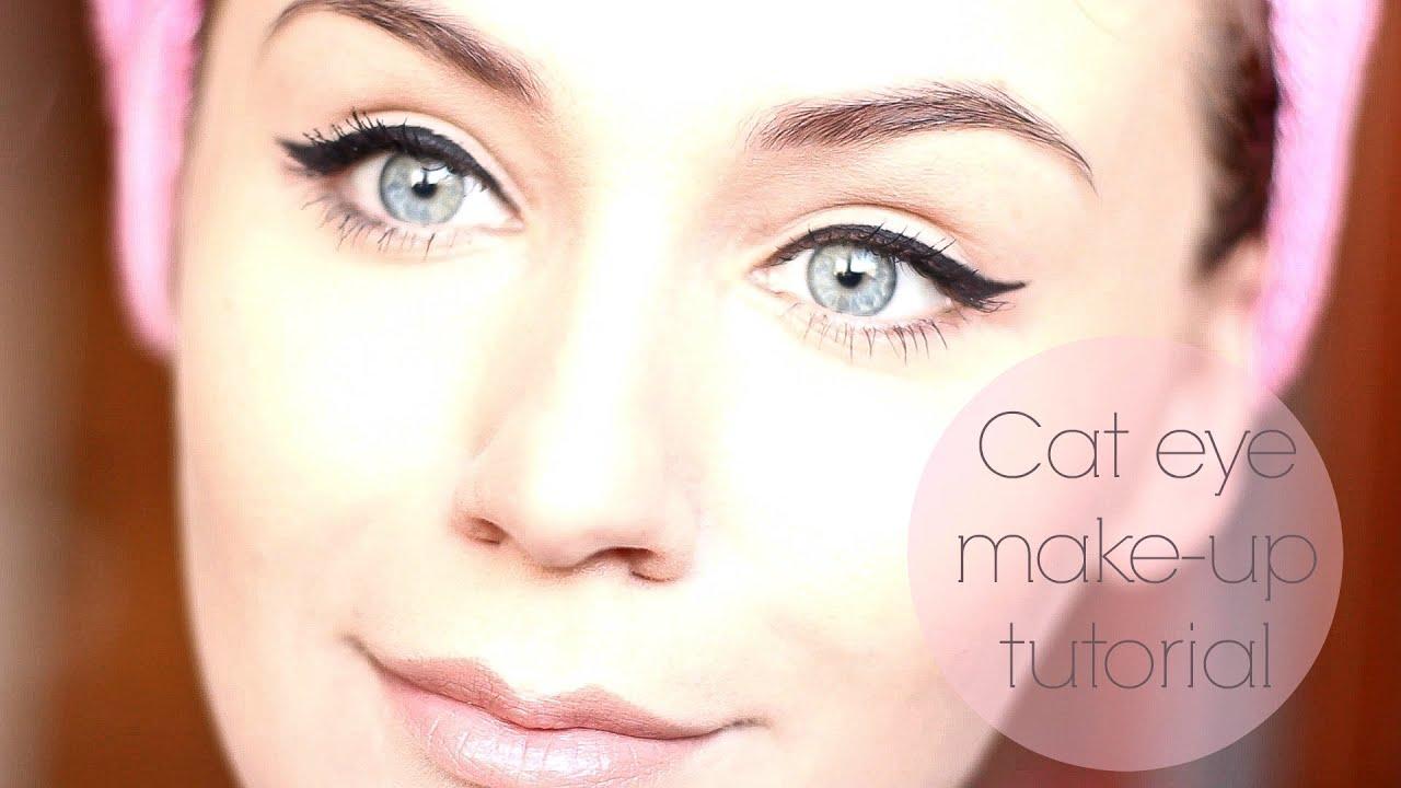 Cat Eye Makeup Tutorial Sau Cum îmi Fac Eu Ochii De Pisică Youtube