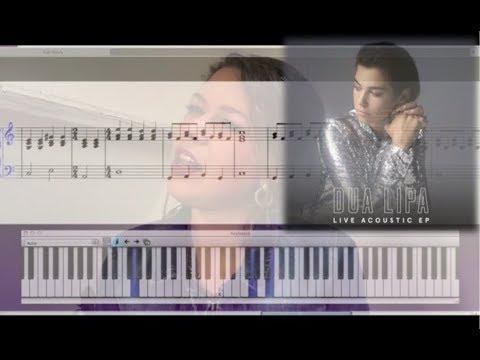 Golden Slumbers Dua Lipa Cover Karaoke Piano Tutorial Sheet