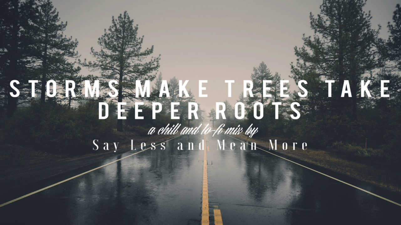 Say Lesean More Storms Make Trees Take Deeper Roots Chill And Lo Fi Mix 1