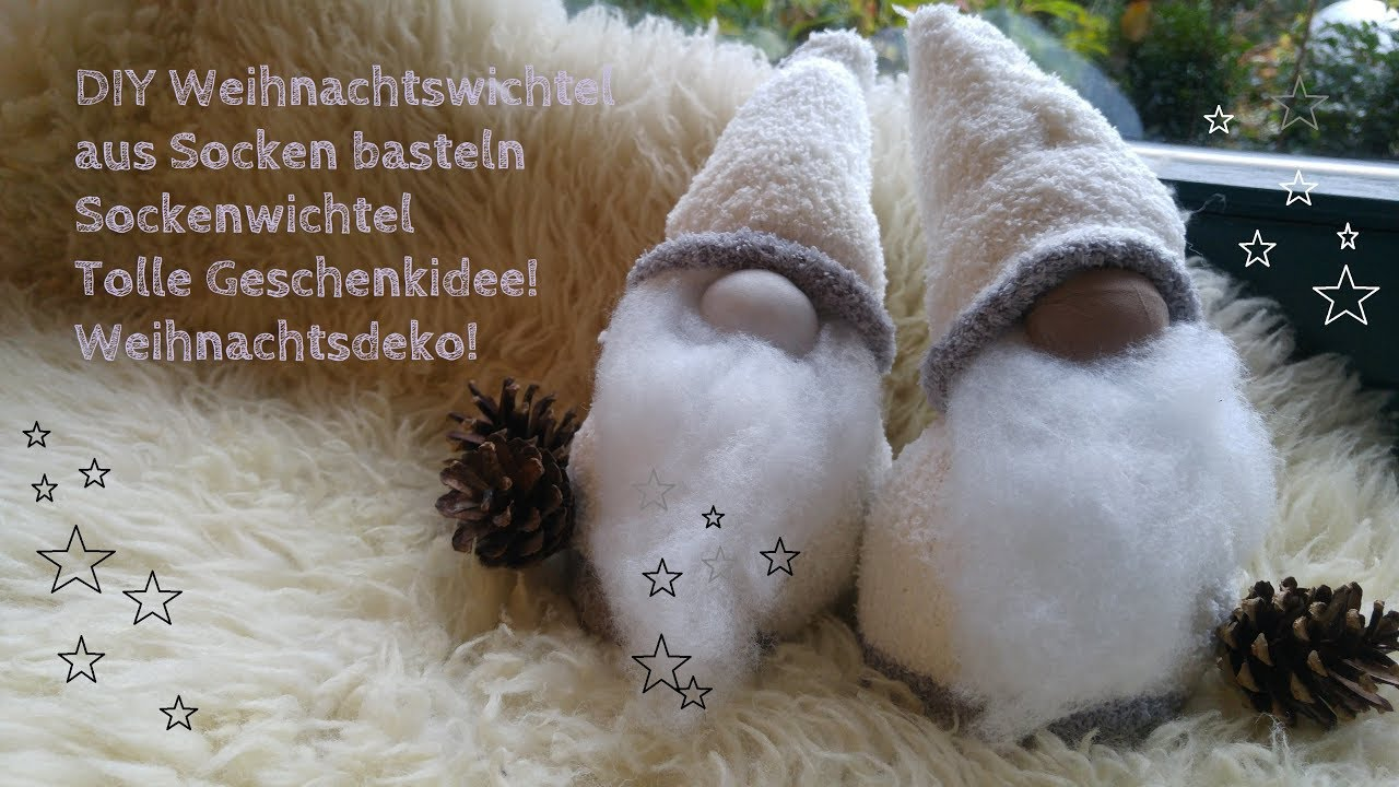 diy schwedische weihnachtswichtel sockenwichtel basteln nikolaus youtube. Black Bedroom Furniture Sets. Home Design Ideas