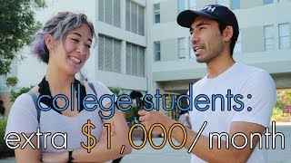 Andrew Yang's Freedom Dividend | What would college students do with an extra $1000 a month?