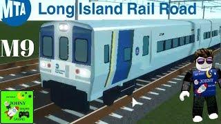 Johny mostra Roblox ferrovias terminal com o novo MTA Long Island Rail Road M9 trem