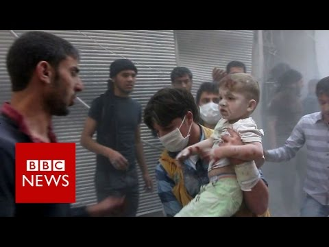 Footage Shows Aleppo Under Bombardment - BBC News