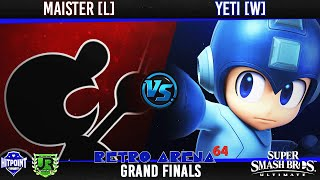 Ultimate Singles  GRAND FINALS - Maister [L] (Game N Watch) vs yeti [W] (Mega Man, Snake)