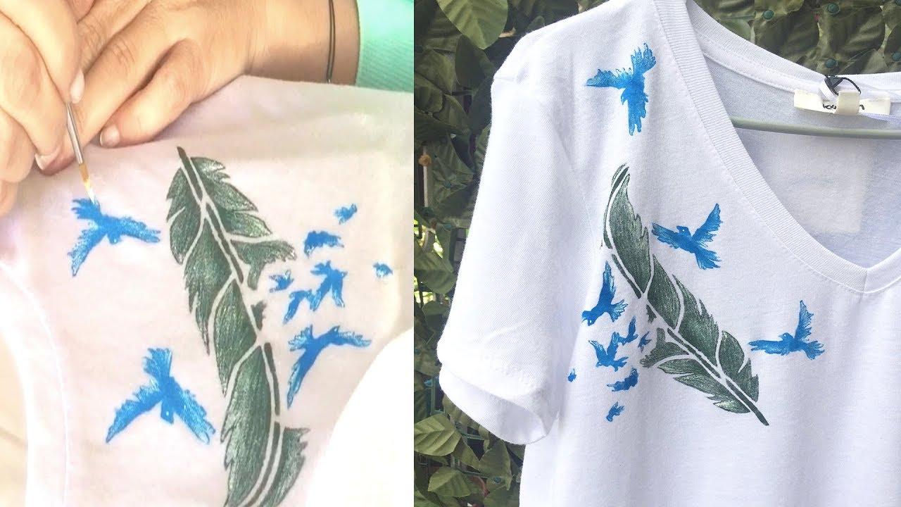 Tişört Boyama Nasıl Yapılır Stensil Ile Tshirt Boyama Kendin Yap