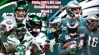 Jets VS Eagles | Live Stream Reaction | Week 5