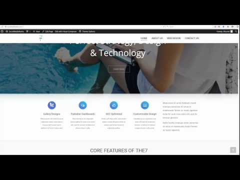 The7 V.2 Wordpress How To: Home Page