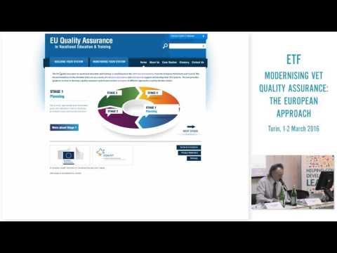 Quality Assurance in vocational education and training - EQAVET 2