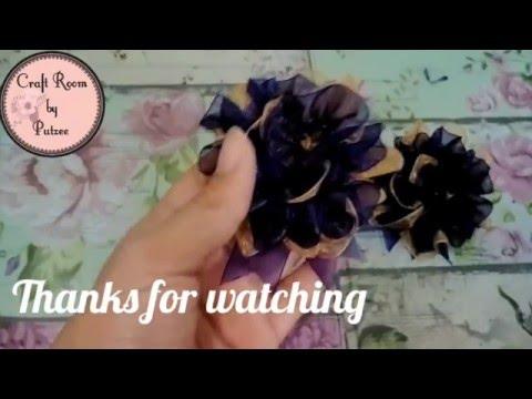 Simple Organza Flower Brooch