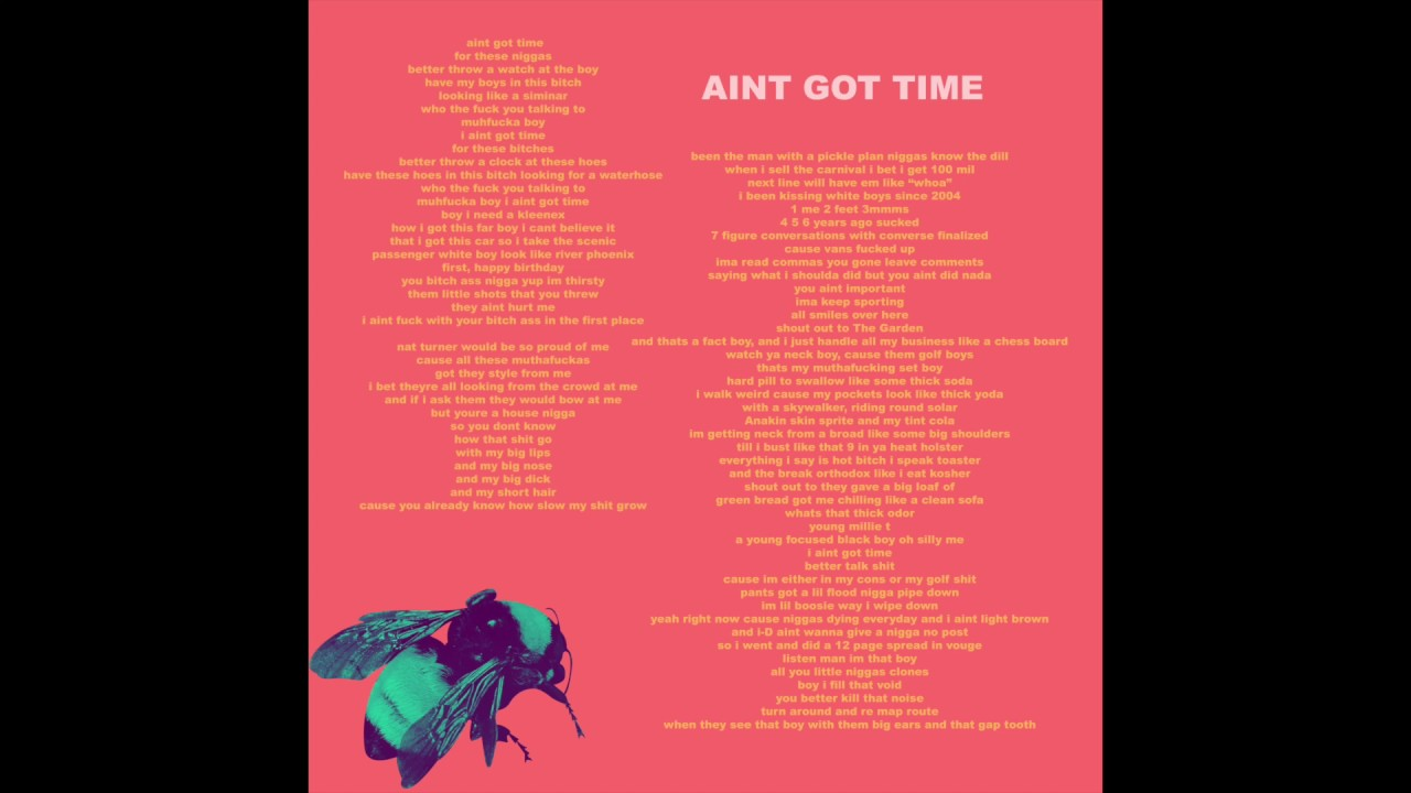 tyler-the-creator-ain-t-got-time-audio-tyler-the-creator