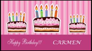 Carmen - Card Tarjeta - Happy Birthday