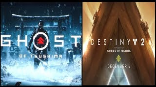 PlayStation PGW 2017 Ghost of Tsushima Trailer , Destiny 2 Curse of Osiris Trailer.The Last Of Us 2