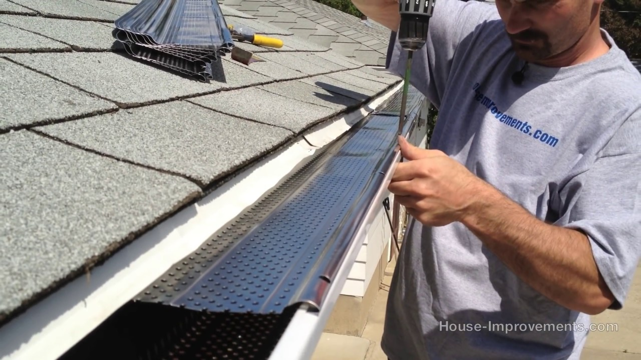 How To Install Eavestrough Screens Youtube