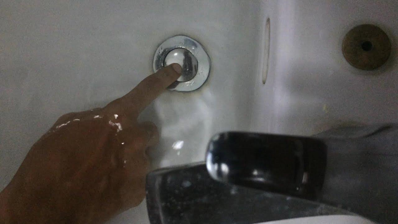 how to fix stuck pop up drain