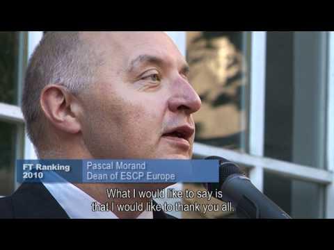 Financial Times RANKING Celebration | The European model of ESCP Europe rewarded