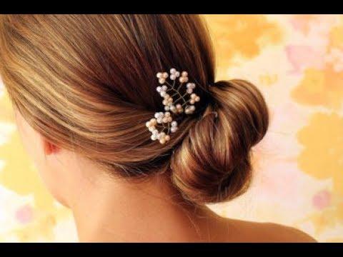 Свадебное украшение для волос своими руками | Bridal Pearl Hair Pin