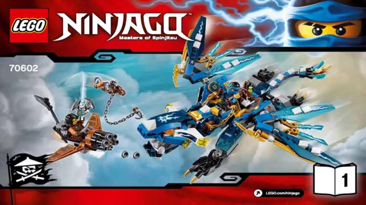 Lego ninjago 2016 70602 jay s elemental dragon ninjago youtube - Dragon ninjago lego ...