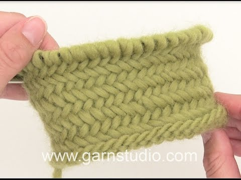Knitting Herringbone Stitch In The Round : How to knit a basket pattern in the round Doovi